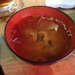 鉄火 - 味噌汁