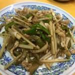 中華料理 ポパイ - ザーサイと豚肉細切り炒め!