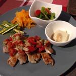 サンテカフェ - 豚肉ソテー トマトとツナソース