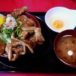 にんにく豚丼 京都・西浦 - 特製甘辛豚丼(肉増し)