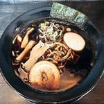 49306125 - 【ブラックラーメン(しょうゆ) + 煮玉子】¥700 + ¥100
