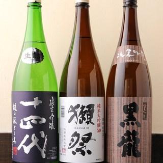 人気の地酒や季節に応じた旬の地酒ご用意させて頂いております。