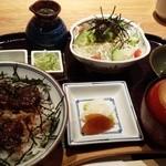 備長 - まぶし丼ランチ 1480円+(うな茶漬け用)出汁スープ100円