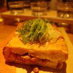 かよひ路 - 水戸納豆の油揚げはさみ焼き(2016/3)