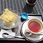 49317106 - 柚子あんみつ&紅茶!!ヾ(≧▽≦)ノ
