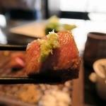 鉄板焼 RURI - 山葵でいただきます