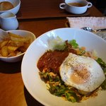 Dining Cafe Lloyd wright - 8月のお勧めメニュー ロコモコ丼セット