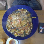 花まさ - 「炒麺」(チャーメン)大盛り・・・麺3人前使用!  でか過ぎ(爆)