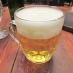 つばめグリル - まずはビールでしょ!