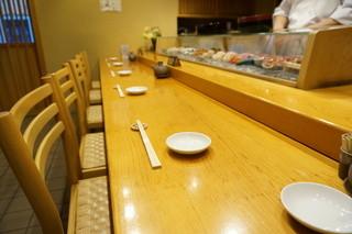 いしやま寿司 - カウンター