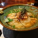 酒菜一 - お茶漬け(鮭)・・つや姫使用。
