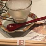 49324072 - 付き出し 1つ目 淡路産玉ねぎの冷製スープ