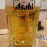 武くら - 生ビールはスーパードライ早飲み割引で400円
