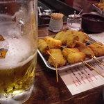串揚げ しゃかりき - 串揚げ、そしてビールが美味い