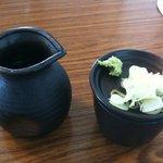 蕎麦屋 まんきち - 薬味・そばつゆ