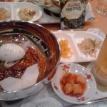 韓国料理 ドントン - ビビン冷麺セット+ビール=1000円セット(焼のり付き)!!!