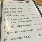 すすき - H28.04.02 一本きりの日本酒メニュー