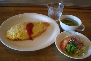 カフェ・ラ - オムライスセット スープ・サラダ付