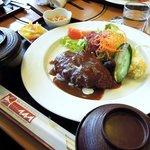 49334835 - 黒毛和牛(A5)100%ハンバーグ定食(人気No,1!)