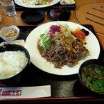 49334837 - 黒毛和牛の生姜焼き定食