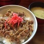 49339646 - 牛丼&お味噌汁
