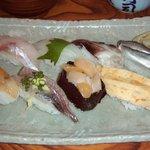 北浜寿し - 地魚寿し (1,890円)