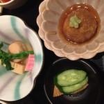 旬味千菜 蓮こん - 炊合せと蓮根饅頭
