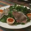カフェソラーレ - 料理写真:鴨川産ベビーリーフ&三元豚生ハムシザースサラダと奥久慈軍鶏卵