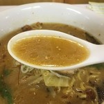 らぁめん道場 黒帯 - 味噌のスープ