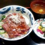 海南亭グリル - ステーキ丼ランチ(2016.3)