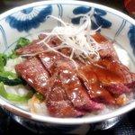 海南亭グリル - ステーキ丼(アップ)(2016.3)