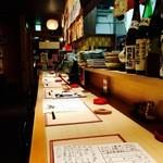 居酒屋たぬき - カウンター席