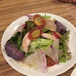 49361702 - 10種類の彩り野菜と蒸し鶏のサラダ。                                              ボリューミーでホントに彩りが綺麗です!