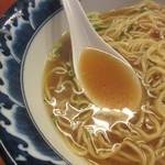 麺食堂 一真亭 - スープ、あっさりでもない。