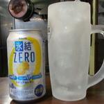 二十九代目 哲麺 - 氷結ゼロの缶200円 ジョッキに氷が入って届きました♪