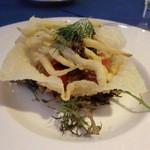 レストラン オーロラ - 期間限定(2016 2/1~3/31)洋食&中華コラボディナー オーロラコース:白魚とほたるイカのフリット
