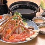 しゃぶ膳 - 料理写真:お刺身でもいただける。甘くて新鮮なズワイガニをサッとお湯にくぐらせ、至福のひとときをどうぞ