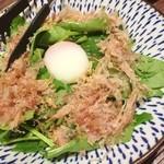 宮崎県日向市 塚田農場 - ほうれん草とベーコンのあったかサラダ♪