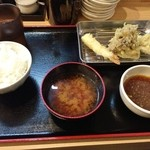 から天 - 空堀天ぷら飯 780円♪
