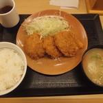 とんかつ かつや - ヒレカツ定食853円が150円引き691円に(2016.3.24)