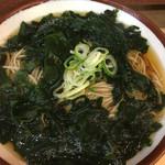 そばの神田 東一屋 - ワカメそば 麺1.5倍 430円