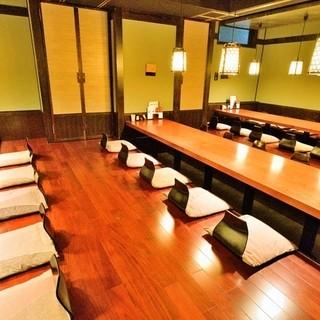 歓迎会、送別会に最適!宴会最大40名様の完全個室完備!