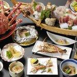 戸田温泉 味わいの宿 ときわや - 料理写真:西伊豆戸田名物《高足ガ二》とエビカニづくしの磯料理