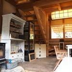 田舎cafe おそらゆき - 寒い日には薪ストーブを焚きます。火は人の心を和ませます。