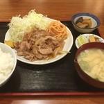 みさち屋 - 生姜焼き定食