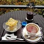 49402427 - 『柚子あんみつ』と『紅茶』のセット(1430円)~♪(^o^)丿