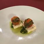 エスポート - 豆腐とトマトのカプレ-ゼ