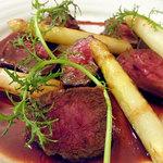 ル ビストロ メランジェ - 料理写真:十勝彩美牛イチボ肉のロティ 赤ワインソース3200円