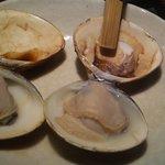 焼はまぐり 青山八番 - 焼蛤は美味しい。