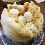七福堂 - きなこミルク氷(白玉トッピング)